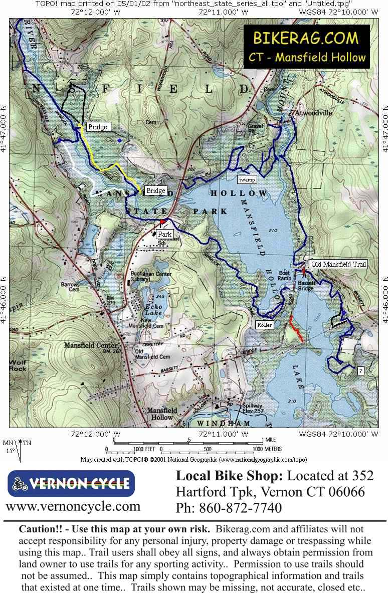 CT - Mansfield hollow Mansfield Hollow Trail Map on pomfret map, hampton map, middletown map, columbia map, hebron map, manchester map, tar hollow state park map,
