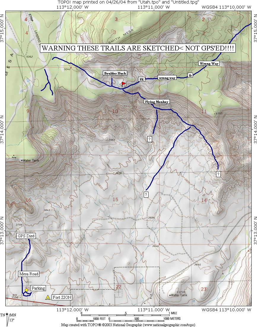 Utah - Flying Monkey Trail review page