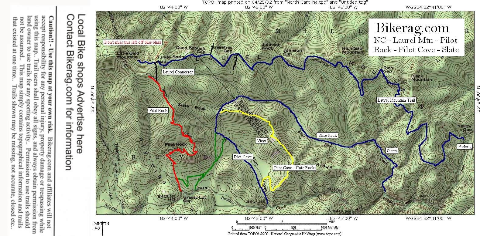 Pisgah Forest Nc Map.Nc Pilot Cove Slate Rock Trail Review