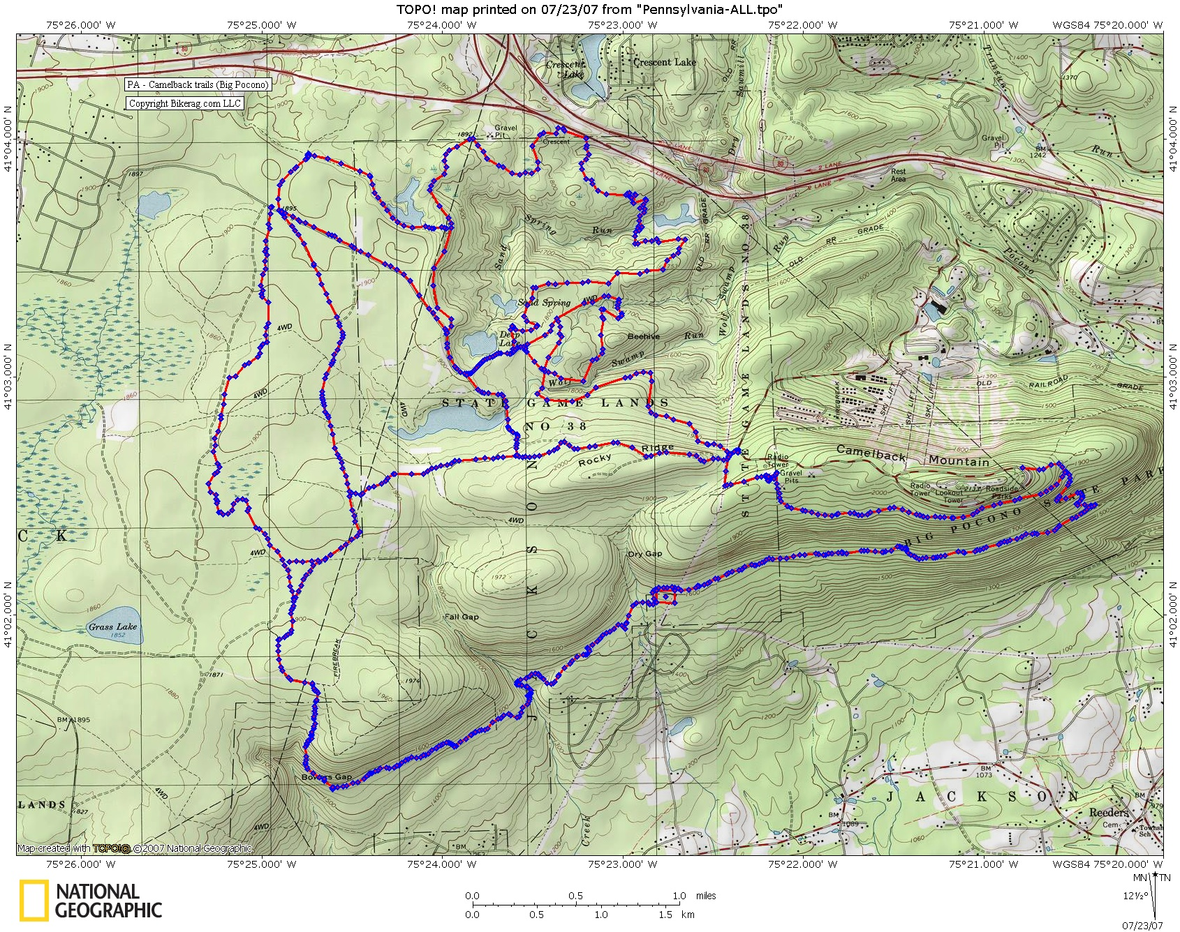 Camelback trails in Big pocono Trail review page on